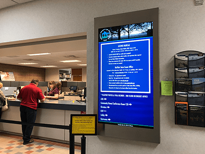 Digital Directory at Service Counter